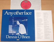 DENNIS O'BRIEN - Any Other Face  (DECCA, D 1979 + lyrics / LP m-)