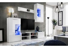 Living Room High Gloss Storage Furniture Tall Unit Modern TV Unit Cabinet FASTY
