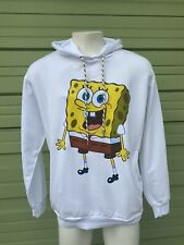 NWT Zara Men White SPONGEBOB HOODED SWEATSHIRT SIDE Pockets NEW Size L  1755L