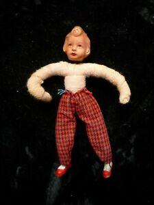 Caco, Biegepüppchen,Metallfüße ,Puppenhaus ,  50er , Ersatzteile, Mädchen 8 cm