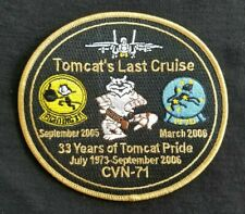 Navy Tomcat Last Cruise Commemorative Military Patch 1973-2006