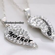 SALE BLACK FRIDAY - NEW Silver Mother Daughter Necklaces Xmas Gift For Her Women