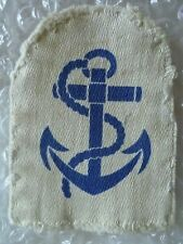 VINTAGE Royal Navy Leading Seaman Rank Cloth Badge Printed 80 mm Used*