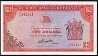 1977 RHODESIA $2 DOLLARS BANKNOTE * K/146 950163 * gEF * P-35c *