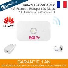 HUAWEI E5573CS-322 DOMINO MODEM ROUTEUR WIFI 3G 4G INTERNET 150 Mbps DEBLOQUE