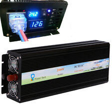 2500W Power Inverter 24V to 120V Pure Sine Wave Inverter Off Grid LED Display