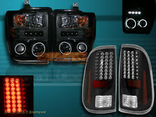 2008-2010 FORD F250/F350/F450 PROJECTOR HEADLIGHTS CCFL HALO &LED TAIL LIGHTS 09