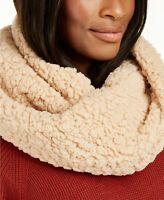 INC International Concepts faux sherpa infinity loop women's scarf - CAMEL