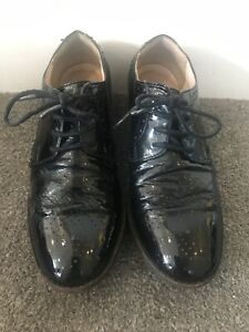Clarks Black Lace Up School Shoes UK 5E / EUR 38