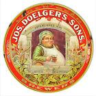 "VINTAGE ANTIQUE Style Metal Sign Doeglers Sons Beer 30"" Round"