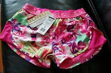 BNWT BONDS Mesh Running Short Multicolor Floral design size S or 8 to 10