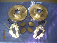 MG MGB BRAKE KIT CALIPERS, BRAKE DISCS, SET OF PADS, LOCKTABS  & PINS. & CLIPS