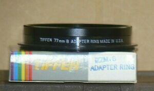"""Tiffen Series 8 77 mm Screw-In Lens Adapter with Retaining Ring """"New Old Stock"""""""
