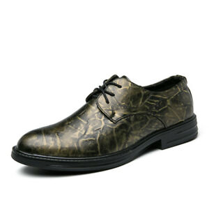 Retro Mens Dress Oxfords Lace Up Formal Business Shoes Work Office Party Shoes