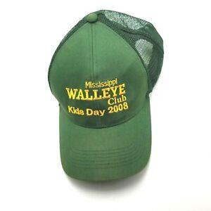 Mississippi Walleye Club Kids Day 2008 Hat Cap Green Used Mesh Snapback G4