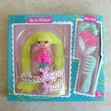 Pix E Flutters Mini Lalaloopsy Doll New Loopy Hair Clips Comb Green Yarn MGA