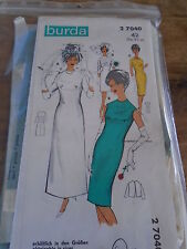 "PATRON VINTAGE  1960 ""BURDA 4 VERSIONS ROBE DE MARIEE & CEREMONIE  N°27040  T42"