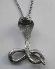 Cobra (42mm x 32mm) Snake Chain Necklace #1059 Pewter Large