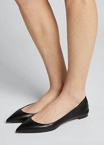 New CHRISTIAN LOUBOUTIN Ballalla Flat Leather Ballet. Black. Sz.41.5. Org.$575