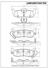 Disc Brake Pad Set-Laser Quiet Ceramic Pads Rear Pronto LCD1041