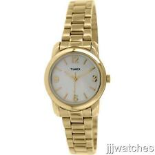 New Timex Elevated Classic Gold Tone Women Pearl Dial Watch 28mm T2N971 $69.95