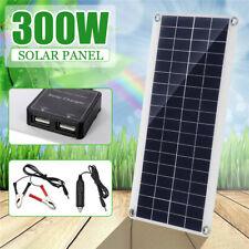 300 Watt Flexible Solar Panel Kit Portable Battery Charger Home Roof Boat Car