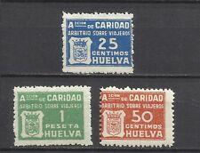 2281-SELLOS BENEFICOS CARIDAD HUELVA ARBITRIO VIAJEROS GUERRA CIVIL,FISCALES?