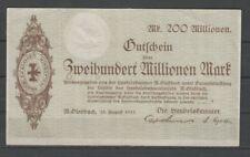 Mönchen Gladbach  - Handelskammer  -  200 Millionen Mark