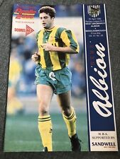 07/04/1990 WBA V Middlesbrough - Division Two Football Match Programme