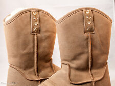 Tan 9West Womens Boots Size 9M Leather N-Cherrie Natural Western Cowboy