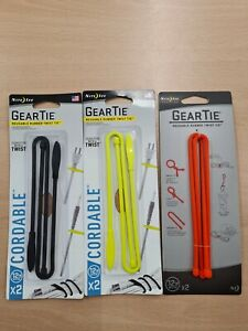 """Nite Ize Gear Tie 2 pack 12"""" (300mm)  . Re-usable FREE POSTAGE"""