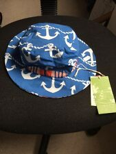 Kite Boys Reversible Summer Hat. Age 0/12 Months. BNWTS