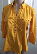 NEW YORK & COMPANY Women's Button Down SHIRT BLOUSE Stretch Long Sleeve sz M
