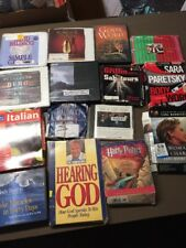 HUGE LOT OF 49 Audiobook CD lot various authors wholesale. Free shipping (lot 6)