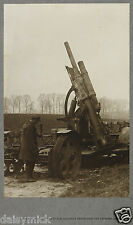 "British Army Captured German Anti Aircraft Gun World War 1 1915, 6x4"" Photo bl"