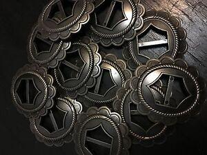 Western Style Nickel Silver Metal Alloy Concho Ornament