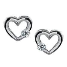 Orecchini di lusso con gemme cuore in argento con pietra principale zircone