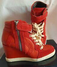 Sneaker Keilabsatz Buffalo London Gr. 39 Rot Stiefelette Damen Turnschuhe + OVP