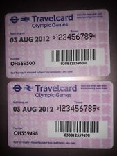 Lodon 2012 Olympics Travelcard 3 august 2012 X2