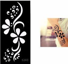 Flower Daisy Henna Tattoo Stencils Templates for Body Art Painting Hands Legs