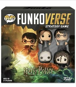Harry Potter #100 Funko Pop! Funkoverse Strategy Game with 4 Exclusive Figures T