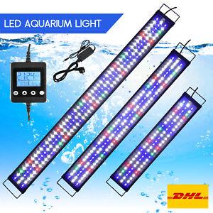 LED Aquarium Beleuchtung 60-180cm Vollspektrum Aufsetzleuchte Pflanzen Lampe DHL