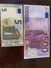 500 Euro Banknote. 500 + 5 Euro Cir. Banknotes. 505 Euros Total. Dt