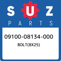 09100-08134-000 Suzuki Bolt(8x25) 0910008134000, New Genuine OEM Part