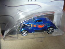 Hot Wheels Hot Rod Magazine  '34 Ford 3 Window Coupe Blue with Flames