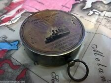 Antique Nautical Titanic Pocket Compass 2 inch Vintage Marine Collectible Decor