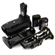 Vertical Battery Grip + 2x LP-E6 LP-E6N for Canon EOS 70D 80D SLR Digital Camera