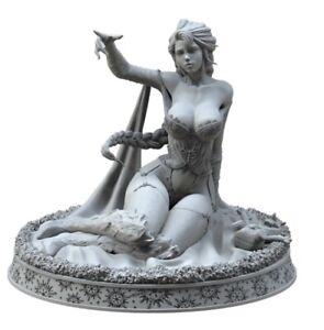 60mm Resin Figure Model Kit Sexy Girl Female Frozen Elsa Fantasy Unpainted