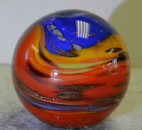 #10802m Beautiful Keith Baker Handmade Contemporary Marble 1.01 Inches Lutz Mica