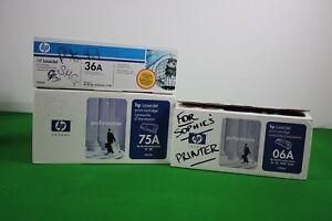 Job Lot 3 x HP Toners Laserjet Printer Cartridge 06A, 75A & 36A 92275A, C3906A